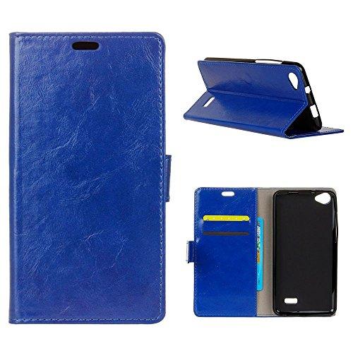 MOONCASE Acer Liquid Z6E Hülle, Flip Leder Tasche Brieftasche mit Ständer Handyhülle Flexibel Silikon Stoßfest Schutzhülle Case für Acer Liquid Z6E 5.0