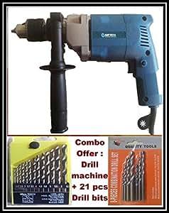 Combo :MAF India 13 mm Impact Drill machine MF-EID13 + 21 pcs of Drill bits