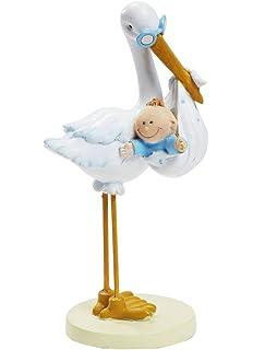 blau Babyfigur Windeltorte Figur Tortenfigur Tortenaufsatz Taufe Geburt Baby Baby in Windel 11 cm