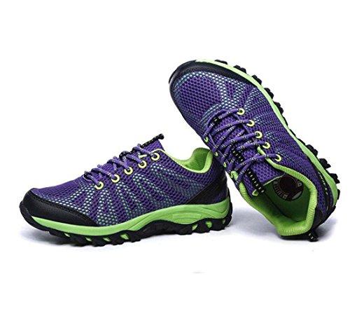 Z&HX sportsChaussures de randonn¨¦e ¨¤ l'¨¦t¨¦ en plein air Chaussures de sport respirantes Chaussures d¨¦contract¨¦es Purple