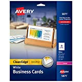Avery Ausdruckbare two-side clean-edge Visitenkarten für Laser-Drucker, weiß, 200Stück (05871)