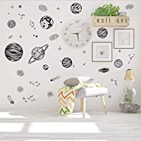 ylckady New Europe Style Cartoon Cosmic Planet Galaxy Wall Sticker for Kids Room Learning Outer Space for Living Room Art Decals 170 * 80cm