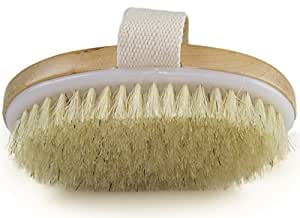 Wholesome Beauty Dry Skin Body Brush Pouch For Travel And Hookincluded - Cotton Loop For Hanging