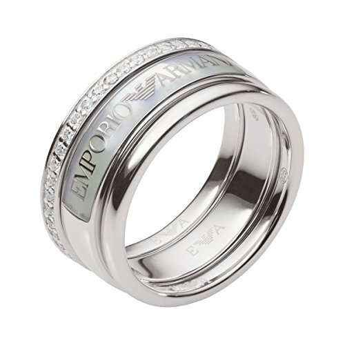 emporio armani ring EMPORIO ARMANI Ring aus 925 Sterling Silber mit Zirkonia-56