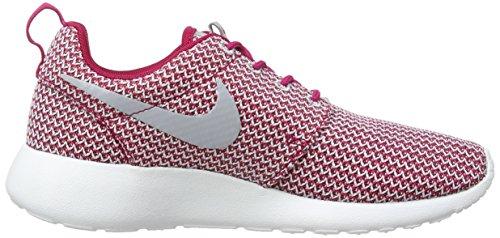 Nike Roshe Run 511882, Damen Low-Top Sneaker Rot (Dark Fireberry/Wolf Grau-Weiß 611)