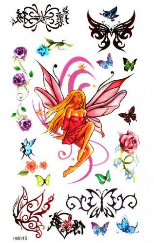 Étanches papillon et ange autocollants de tatouage