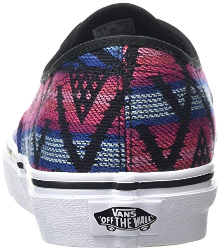 Vans Authentic, Baskets Basses Mixte Adulte Multicolore (Moroccan Geo black/true white)