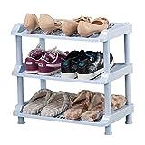 Einfacher Plastikschuh-Lagerregal für Tür Hall-Balkon-4 Teir blauer faltbarer Schuh-Kasten-Organisator-justierbarer Regal-Halter ( größe : 3 tier )