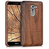kwmobile Funda para Huawei Honor 6X / GR5 2017 / Mate 9 Lite - Carcasa Protectora de [Madera] para móvil - Case [Duro] en [marrón Oscuro]