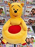 #10: Jassi International Bear Shape Soft Toy Chair (Yellow, 46cm)