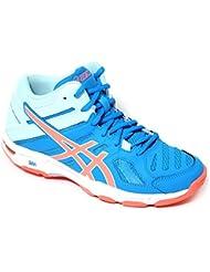 Chaussures Volley Femme, modèle Asics Gel Beyond 5mt, Art. b650N 4306, bleu ciel.