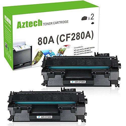 Aztech Compatible for HP Laserjet 80A CF280A Toner Cartridge Replacement for HP Laserjet Pro 400 Toner HP M401n M401dne Toner HP Laserjet Pro 400 MFP M425dn Toner Printer ( Black , 2 Pack  available at amazon for Rs.4799