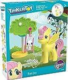 K' Nex Tinkertoy My Little Pony Fluttershy Swing Time Fun Building Set per Bambini dai 3Anni in su, prescolare Giocattolo, 11Pezzi