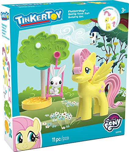 TINKERTOY My Little Pony: Fluttershy: Swing Time Fun Building Set 11 Pieces Ages 3 and up Preschool Toy