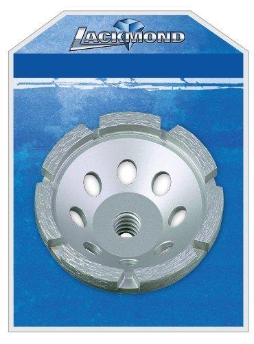 Lackmond SPPGC4.5SN 4.5-Inch Single Row Segmented Diamond Grinding Cup Wheel with 5/8-11 Nut by Lackmond (Single-row Diamond Cup)