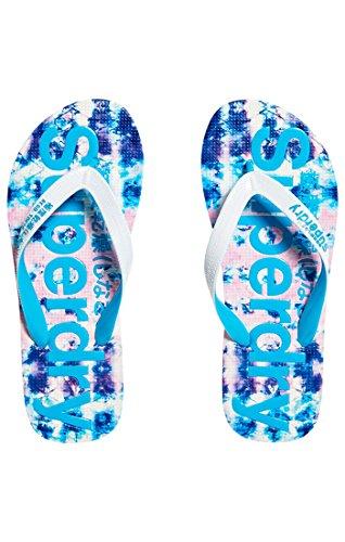 Superdry Aop Flip Flop - Plagettes - Femme Multicolore (Ocean Tie D Ye Aop)