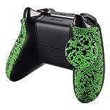 eXtremeRate Schale Gehäuse Grip Griffe Hülle Case Cover Seitenteile für Xbox One S/Xbox One X Controllers(Grün)
