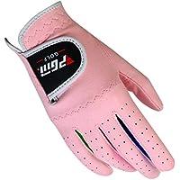 FEOYA - Guantes de golf para niños y niñas, antideslizantes, paquete de 2 unidades, color blanco y rosa, 14, Rosa 1