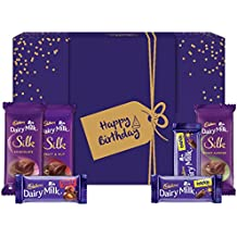Cadbury Assorted Chocolates Gift Box with Happy Birthday Messaging Sleeve, 278g