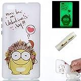 Per Huawei P8 Lite , Huawei P8 Lite Custodia,Cozy Hut Warm Ultra Sottile Nottilucenti Luminoso Flessibile TPU Silicone Custodia Protettiva Cover Case per Huawei P8 Lite - riccio