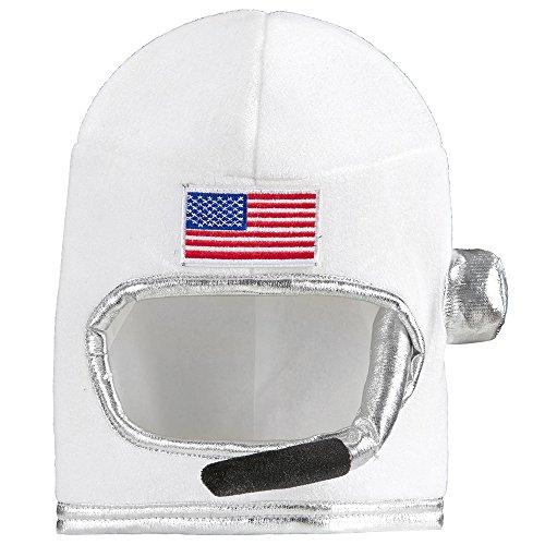 Kostüm Kind Raumfahrer (NEU Helm Astronaut für Kinder, weiß, aus)