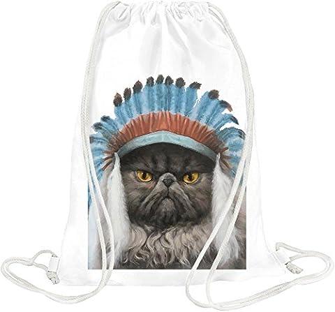 Indian George From Cheddar Gorge Drawstring bag (Weißer Cheddar)