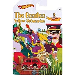 MORRIS MINI 2016 Hot Wheels THE BEATLES 50th Anniversary YELLOW SUBMARINE Red Mini Cooper 1:64 Scale Collectible Die Cast Metal Toy Car Model 4/6 by California-Toys.com