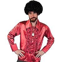 I Love Fancy Dress ilfd4599m Rosso Disco maglietta da uomo Deluxe Disco Ruffle 1970del disco king Costume M