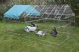 Kerbl Freilaufgehege, verzinkt, mit Sonnenschutz, 220x103x103cm