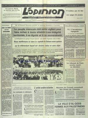 OPINION (L') [No 9213] du 10/11/1990