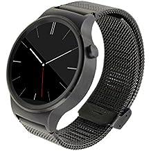 huawei watch 2 Acero inoxidable Correa de reloj / banda de / cadena de reloj / watch band, KuGi ® huawei watch 2 Correa de reloj de alta calidad de de acero pulsera reloj elegante correa de la venda de metal inoxidable con adaptador metálico de cierre, moda milanesa de lazo de acero inoxidable de malla de reemplazo de la hebilla de la correa de muñeca de la venda de reloj inteligente huawei watch 2.