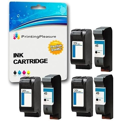 6 Cartucce d'inchiostro compatibili per HP Deskjet 1120c, 1120cxi, 1120cse,