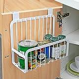 WENZHE Küchenregal Küche Wandregal Ablage Regal Storage Racks Hängenden Korb Tür Zurück Kleiderbügel Multifunktion Eisen, 26 * 14 * 24cm