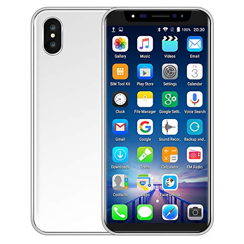 Oasics Smartphone, Neue Art und Weise 5,8 Zoll Doppel-HDCamera Smartphone Android IPS-GANZER Bildschirm GSM/WCDMA 4GB Touch Screen WiFi Bluetooth GPS 3G Anruf (Silber)