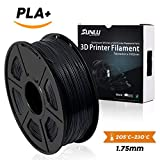 SUNLU 3D Printer Filament PLA Plus Black, PLA Plus Filament 1.75 mm,Low Odor...