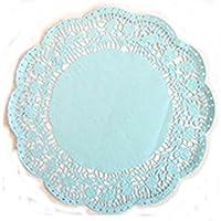 3 Blondas de papel encaje azules para bandejas diámetro ...