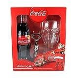 Coca Cola trinken Set–330ml Coke Flasche, CONTOUR GLAS UND Flaschenöffner
