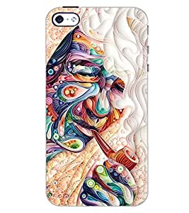 PrintDhaba SMOKING ART D-6778 Back Case Cover for APPLE IPHONE 5S (Multi-Coloured)