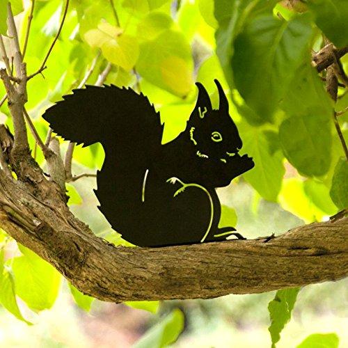 Wildlife Garden Silhouette Décoration de jardin Statuette de jardin Écureuil