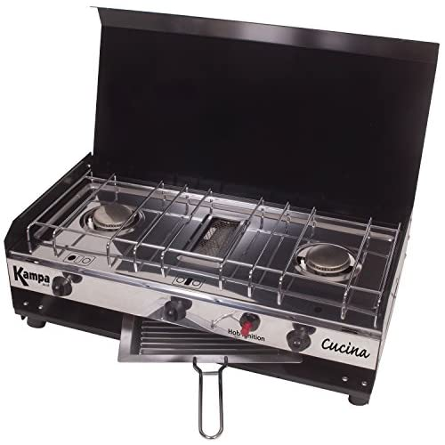 514cyCk6L0L. SS500  - Kampa Cucina Double Gas Hob And Grill Camping Cooking Stove Cooker