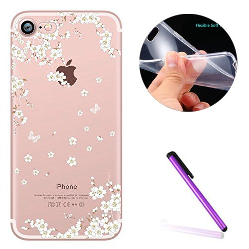 iPhone 7 Plus Crystal Clear TPU Case Hülle Silikon Gel Schutzhülle Rückschale Etui für iPhone 7 Plus 5.5 Zoll,iPhone 7 Plus Hülle Transparent,iPhone 7 Plus Hülle Silikon,EMAXELERS iPhone 7 Plus Hülle  TPU 19