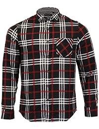 1b916bd96db0f Brave Soul Men s Shirt 69ENRICO Black Red X Large