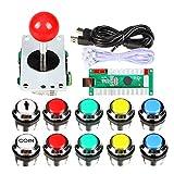 EG STARTS Classic Arcade Kit fai da te USB Encoder per PC Joystick + 8 modi Stick + Cromato LED illuminato Pulsante 1 giocatore & Coin pulsanti per Arcade Mame Raspberry Pi 2 3 3B Giochi