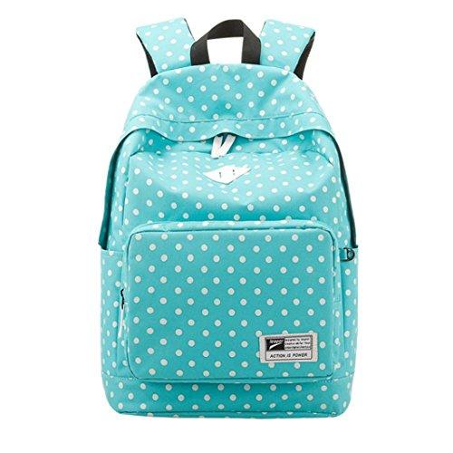 Saingace® Léger Casual Daypack Sac à dos pour femmes Sacs scolaires (Noir) Bleu