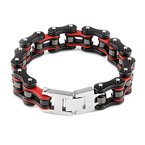YSM Heavy-duty Bracelet MotorCycle Cuff Bracelet 316L Stainless Steel Men