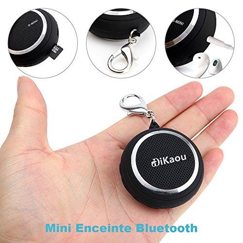 dikaou Portable Super Mini Wireless Bluetooth 4.0Altavoz Loud Sonido Estéreo recargables Outdoor Sport Bluetooth Audio para iPhone Samsung y más