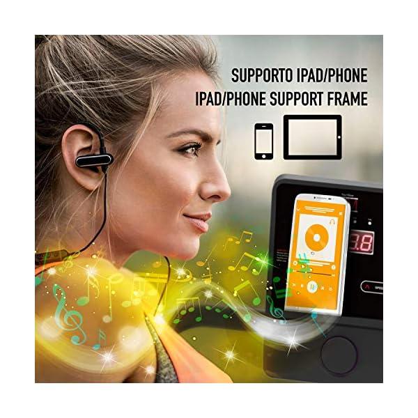 Tapis ROULANT Elettrico Pieghevole Bluetooth (1800W / 2,5HP Picco), App KINOMAP Coaching Multiplayer, 10 KM/H, Sensore… 5 spesavip