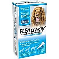 RSPCA FleaAway Spot On Solución para perros medianos, 134 mg