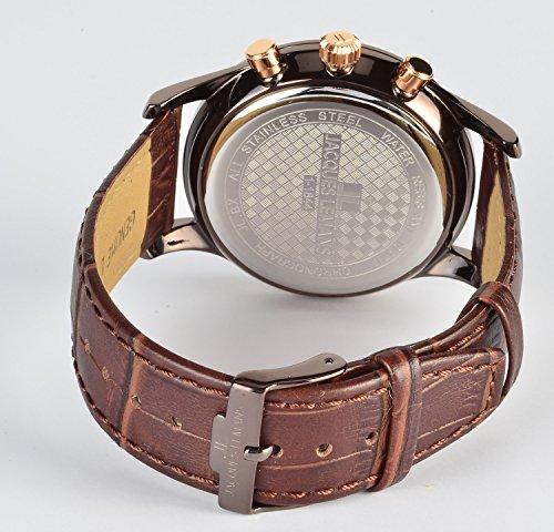 Jacques Lemans Herren Analog Quarz Smart Watch Armbanduhr mit Leder Armband 1-1844G
