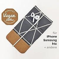 iPhone-Tasche Anthrazit / Handytasche / Smartphone Case / Vegane Handytasche / Vegane Accessoires / Geschenk für sie / Weihnachtsgeschenk